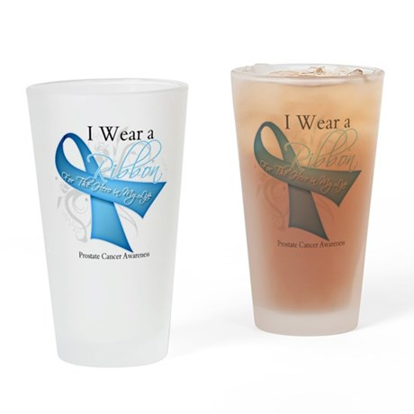 I Wear Ribbon Prostate Cancer Pint Glass