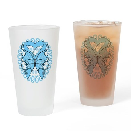 Prostate Cancer Butterfly Pint Glass