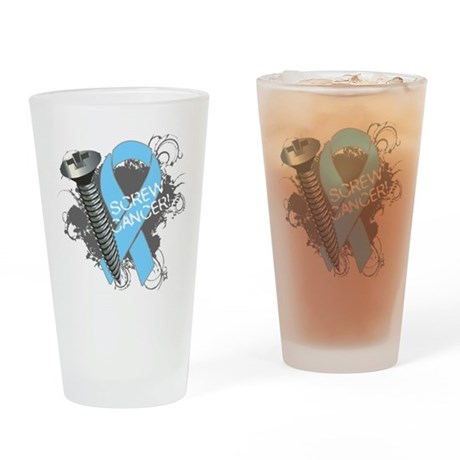 Screw Prostate Cancer Pint Glass