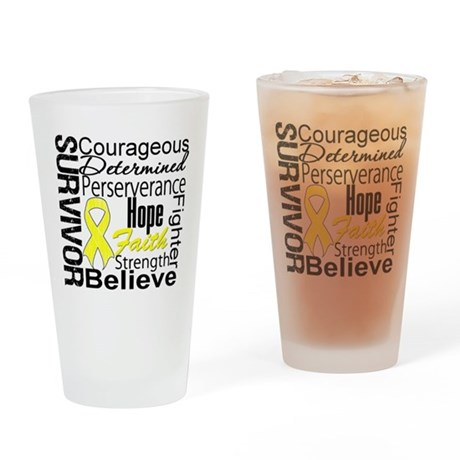 Sarcoma Survivor Collage Pint Glass