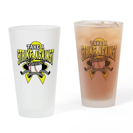 Take a Strike Sarcoma Cancer Pint Glass