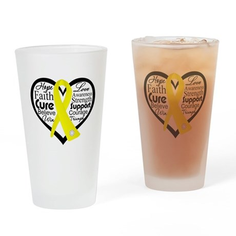 Sarcoma Cancer Heart Pint Glass