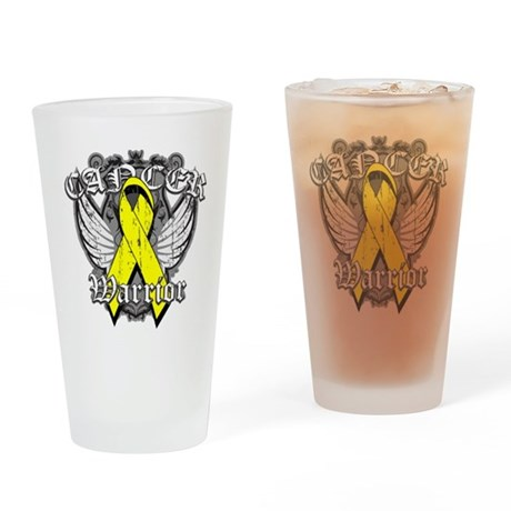 Sarcoma Cancer Warrior Pint Glass