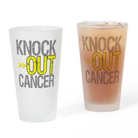 Knock Out Sarcoma Cancer Pint Glass