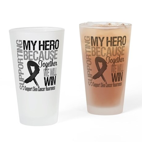 Supporting My Hero Pint Glass