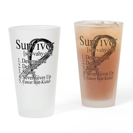Skin Cancer Survivor Pint Glass