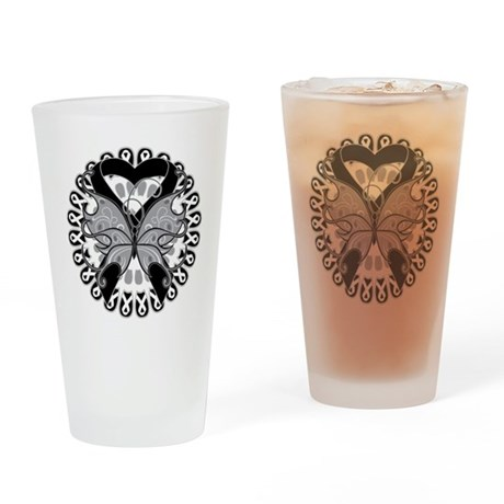 Skin Cancer Butterfly Pint Glass