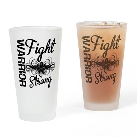 Warrior Skin Cancer Pint Glass