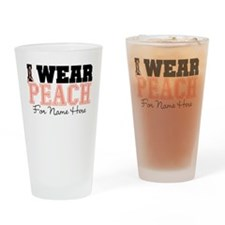 Custom Uterine Cancer Pint Glass
