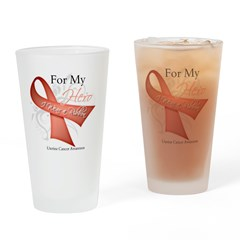 For My Hero Uterine Cancer Pint Glass