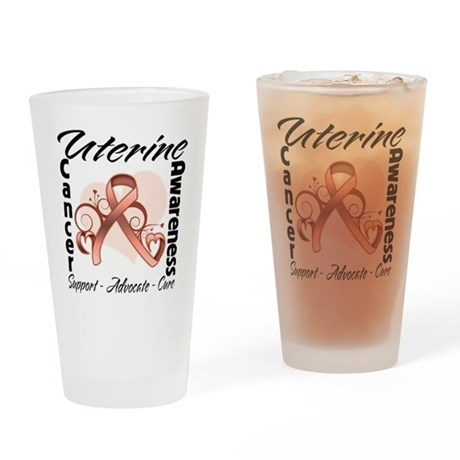 Uterine Cancer Awareness Pint Glass