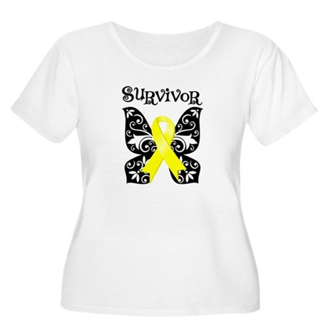 Butterfly Sarcoma Survivor Women's Plus Size Scoop