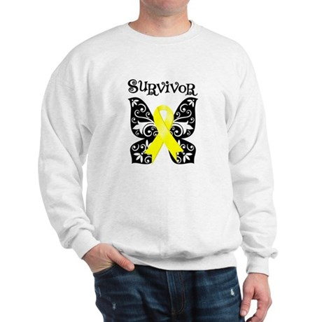Butterfly Sarcoma Survivor Sweatshirt