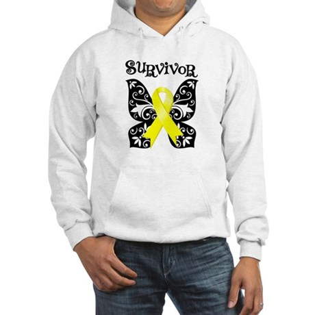 Butterfly Sarcoma Survivor Hooded Sweatshirt