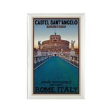 Castel Sant'Angelo Rectangle Magnet (10 pack)