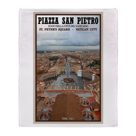St. Peter's Square Throw Blanket