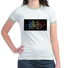Three Bicycles on Black T