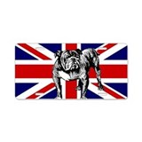 British Bulldog Flag Aluminum License Plate