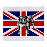 British Bulldog Flag Throw Blanket