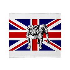 British Bulldog Flag Throw Blanket