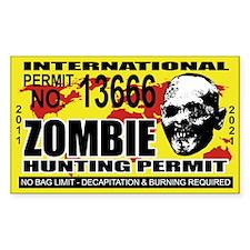 ZOBMIE Hunting Permit Sticker (TEN PACK)
