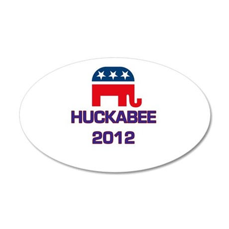 Huckabee 2012 22x14 Oval Wall Peel