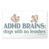 ADHD BRAINS Decal