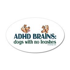 ADHD BRAINS 38.5 x 24.5 Oval Wall Peel