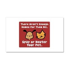 Too Few Homes Spay & Neuter Car Magnet 12 x 20