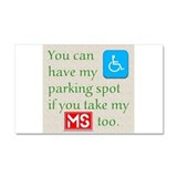 Parking Spot Car Magnet 12 x 20