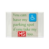 Parking Spot Rectangle Magnet (10 pack)