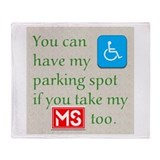 Parking Spot Throw Blanket