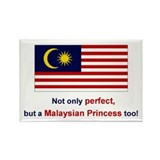 Malaysian Princess Rectangle Magnet