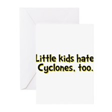 Little Kids Hate Cyclones Greeting Cards (Pk of 10