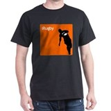 iRugby Orange Rugby Store Black T-Shirt