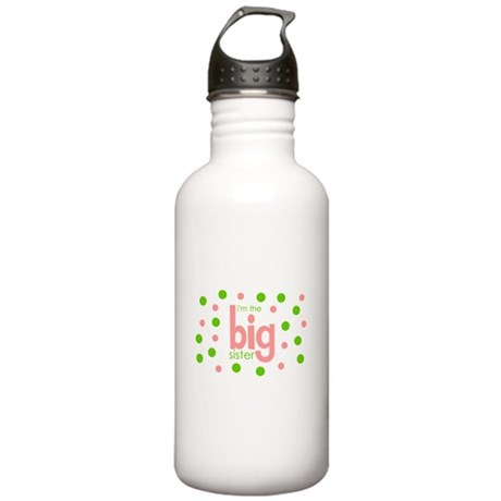 i'm the big sister polkadot Stainless Water Bottle