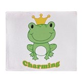 Charming (Frog) Throw Blanket