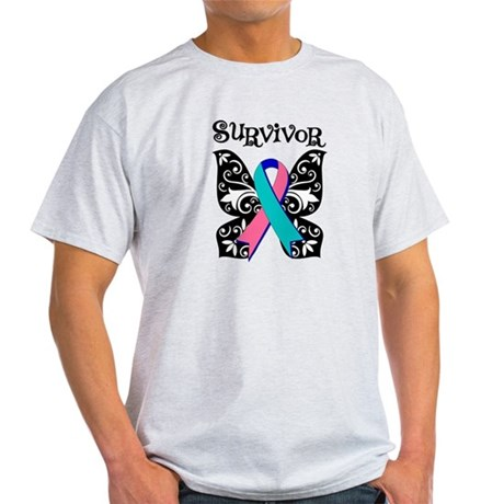 Butterfly Thyroid Cancer Light T-Shirt
