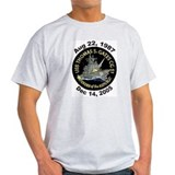 USS Thomas Gates CG 51 Decomm Ash Grey T-Shirt