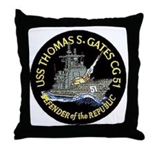 USS Thomas S. Gates CG 51 Throw Pillow