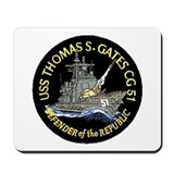 USS Thomas S. Gates CG 51 Mousepad