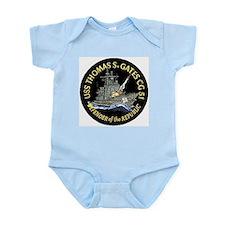 USS Thomas S. Gates CG 51 Infant Creeper