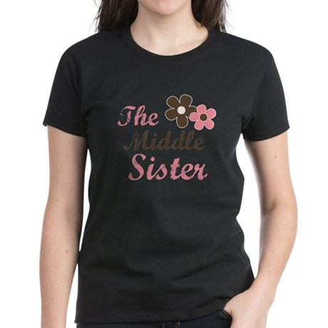 the middle sister pink brown Women's Dark T-Shirt