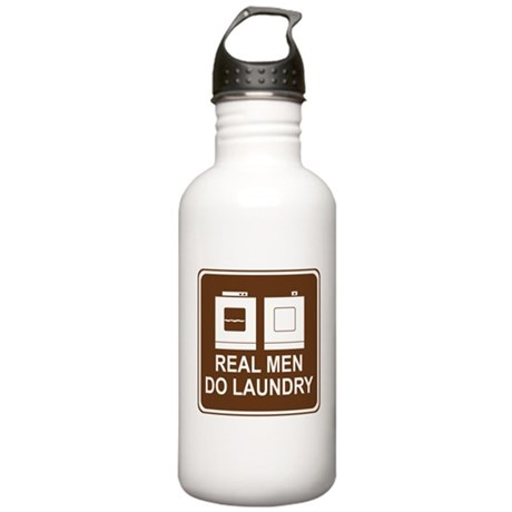 Real Men Do Laundry Stainless Water Bottle 1.0L