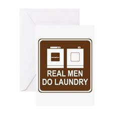 Real Men Do Laundry Greeting Card
