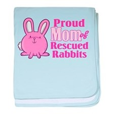 Rescued Rabbits Mom baby blanket