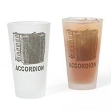 Vintage Accordion Pint Glass