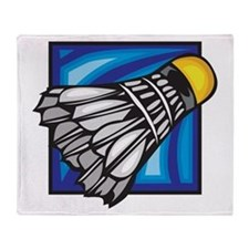 Badminton Shuttlecock Throw Blanket