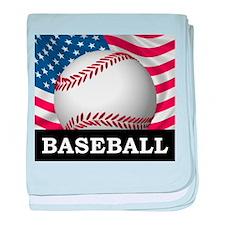 American Baseball baby blanket