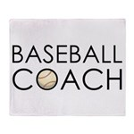Baseball Coach Throw Blanket